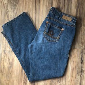 Seven7 Medium Wash Bootcut Distressed Jeans 16